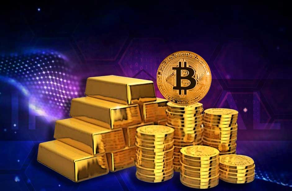 مقایسه بیت کوین و طلا